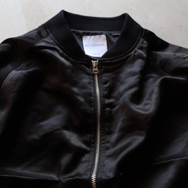 エディットクロージング ジャケット EDIT CLOTHING レーヨン ウール ジャケット RAYON WOOL JACKET ブラック BLACK 2019秋冬新作|charger|08