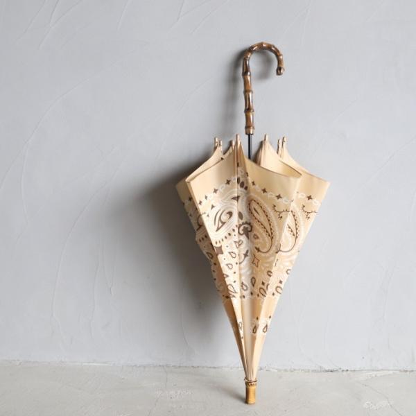 マニプリ 傘 manipuri A-2 傘 バンダナ柄 ベージュ STICK-Umbrella bandana beige 晴雨兼用 雨傘 日傘 2019春夏新作|charger