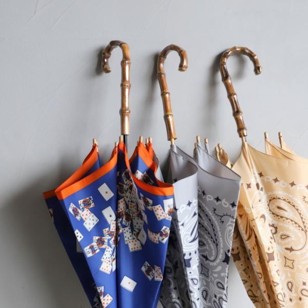 マニプリ 傘 manipuri A-2 傘 バンダナ柄 ベージュ STICK-Umbrella bandana beige 晴雨兼用 雨傘 日傘 2019春夏新作|charger|12