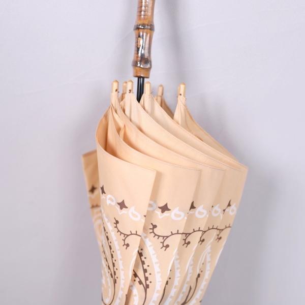 マニプリ 傘 manipuri A-2 傘 バンダナ柄 ベージュ STICK-Umbrella bandana beige 晴雨兼用 雨傘 日傘 2019春夏新作|charger|05