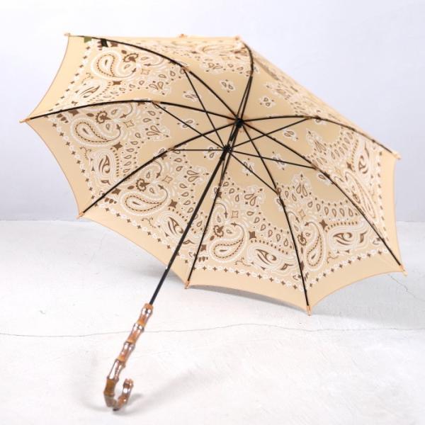 マニプリ 傘 manipuri A-2 傘 バンダナ柄 ベージュ STICK-Umbrella bandana beige 晴雨兼用 雨傘 日傘 2019春夏新作|charger|06