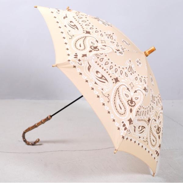 マニプリ 傘 manipuri A-2 傘 バンダナ柄 ベージュ STICK-Umbrella bandana beige 晴雨兼用 雨傘 日傘 2019春夏新作|charger|07