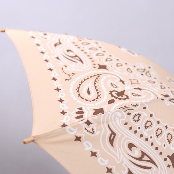 マニプリ 傘 manipuri A-2 傘 バンダナ柄 ベージュ STICK-Umbrella bandana beige 晴雨兼用 雨傘 日傘 2019春夏新作|charger|08