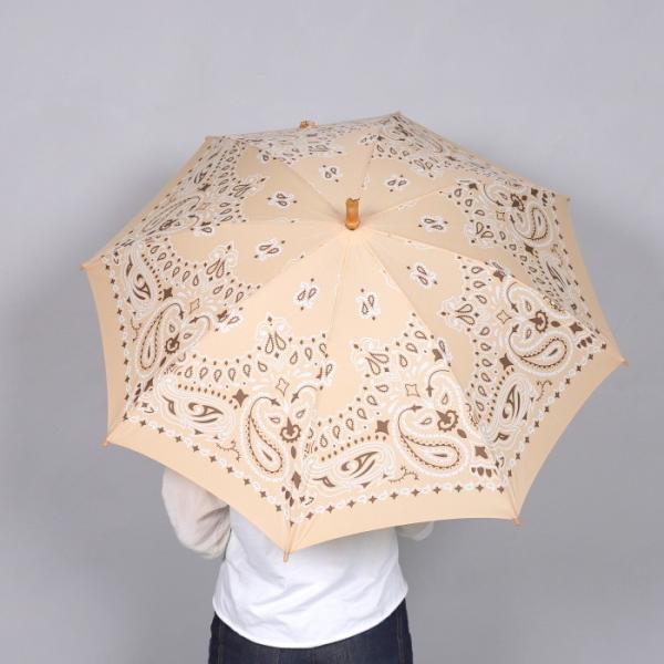 マニプリ 傘 manipuri A-2 傘 バンダナ柄 ベージュ STICK-Umbrella bandana beige 晴雨兼用 雨傘 日傘 2019春夏新作|charger|09