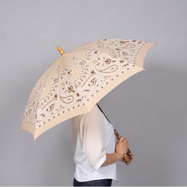 マニプリ 傘 manipuri A-2 傘 バンダナ柄 ベージュ STICK-Umbrella bandana beige 晴雨兼用 雨傘 日傘 2019春夏新作|charger|10