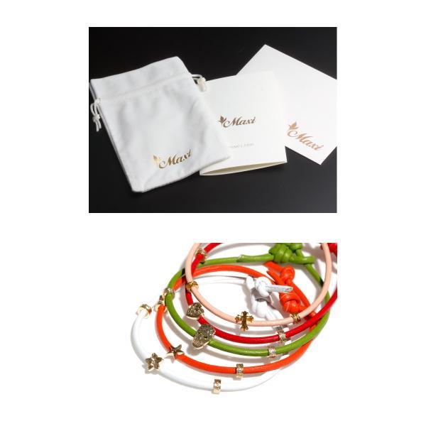 Maxi マキシ ハワイアンジュエリー レザーコード ブレスレット プルメリア K10イエローゴールド WHITE ホワイト レディース|charger|04
