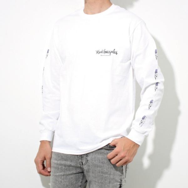 Mark Gonzales マークゴンザレス 2018春夏新作 LONG TEE ロングTシャツ 袖プリント WHITE ホワイト|charger