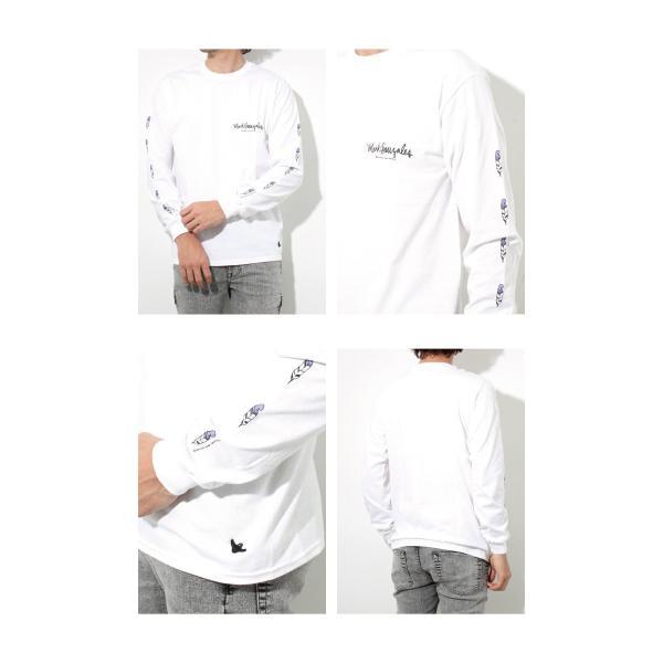 Mark Gonzales マークゴンザレス 2018春夏新作 LONG TEE ロングTシャツ 袖プリント WHITE ホワイト|charger|02