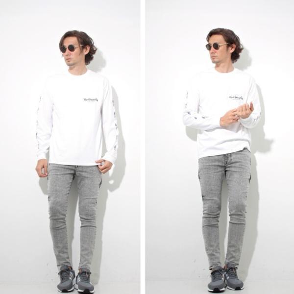 Mark Gonzales マークゴンザレス 2018春夏新作 LONG TEE ロングTシャツ 袖プリント WHITE ホワイト|charger|03