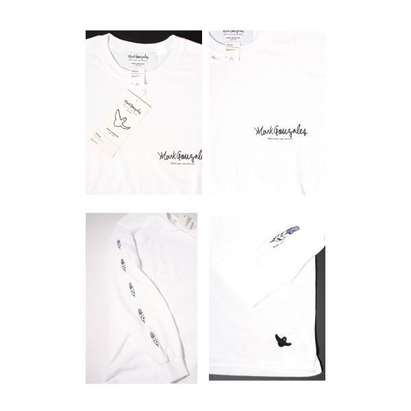 Mark Gonzales マークゴンザレス 2018春夏新作 LONG TEE ロングTシャツ 袖プリント WHITE ホワイト|charger|04