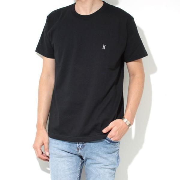 Mark Gonzales マークゴンザレス 2018春夏新作 Mark Gonzales マークゴンザレス ワンポイント刺繍Tシャツ BLACK ブラック|charger