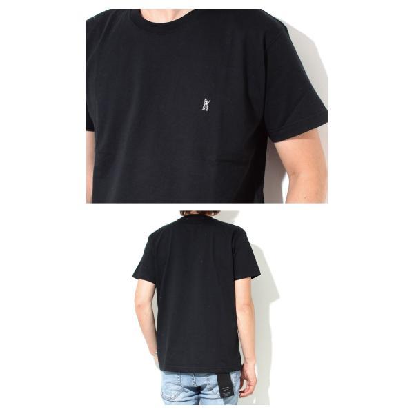 Mark Gonzales マークゴンザレス 2018春夏新作 Mark Gonzales マークゴンザレス ワンポイント刺繍Tシャツ BLACK ブラック|charger|02