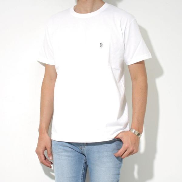 Mark Gonzales マークゴンザレス 2018春夏新作 Mark Gonzales マークゴンザレス ワンポイント刺繍Tシャツ WHITE ホワイト|charger