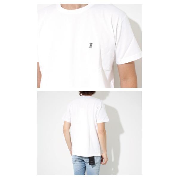 Mark Gonzales マークゴンザレス 2018春夏新作 Mark Gonzales マークゴンザレス ワンポイント刺繍Tシャツ WHITE ホワイト|charger|02