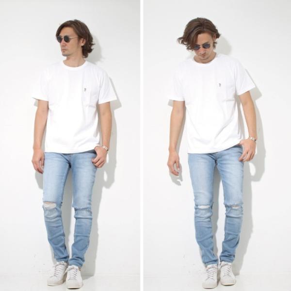 Mark Gonzales マークゴンザレス 2018春夏新作 Mark Gonzales マークゴンザレス ワンポイント刺繍Tシャツ WHITE ホワイト|charger|03