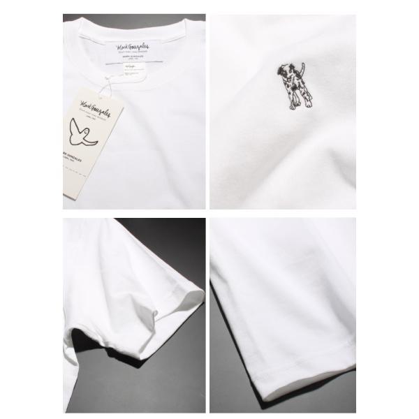 Mark Gonzales マークゴンザレス 2018春夏新作 Mark Gonzales マークゴンザレス ワンポイント刺繍Tシャツ WHITE ホワイト|charger|04