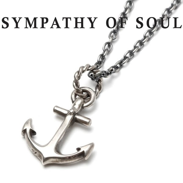 SYMPATHY OF SOUL シンパシーオブソウル Large Anchor Necklace Silver ラージ アンカーネックレス シルバー|charger