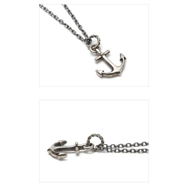 SYMPATHY OF SOUL シンパシーオブソウル Large Anchor Necklace Silver ラージ アンカーネックレス シルバー|charger|03