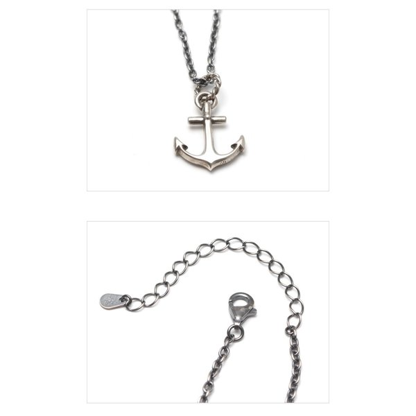 SYMPATHY OF SOUL シンパシーオブソウル Large Anchor Necklace Silver ラージ アンカーネックレス シルバー|charger|04