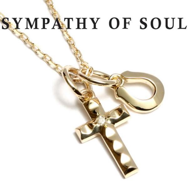 シンパシーオブソウル ネックレス ゴールド ダイヤ K10 SYMPATHY OF SOUL Cross Horseshoe Necklace K10YG Diamond クロス ホースシュー クリスマスモデル|charger