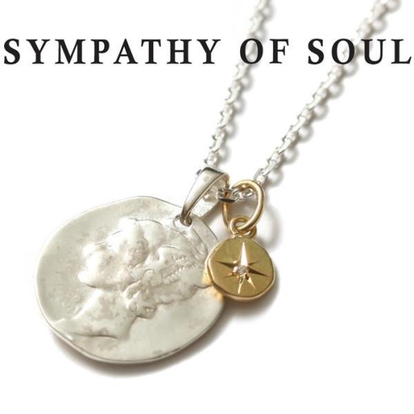 シンパシーオブソウル ネックレス SYMPATHY OF SOUL Liberty Head Necklace Silver K18YG Glory リバティーヘッドネックレス シルバー K18YG グローリー charger