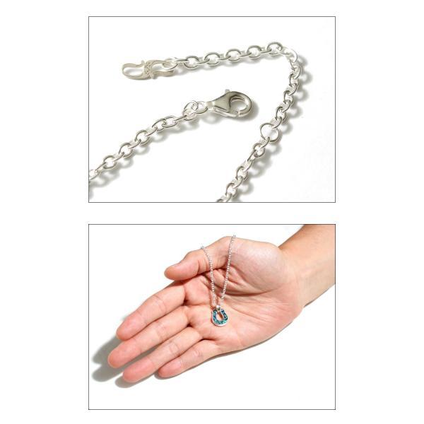 シンパシーオブソウル ネックレス SYMPATHY OF SOUL Horseshoe Inlay Necklace Silver Turquoise ホースシューインレイネックレス シルバー ターコイズ|charger|05