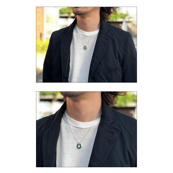 シンパシーオブソウル ネックレス SYMPATHY OF SOUL Horseshoe Inlay Necklace Silver Turquoise ホースシューインレイネックレス シルバー ターコイズ|charger|06