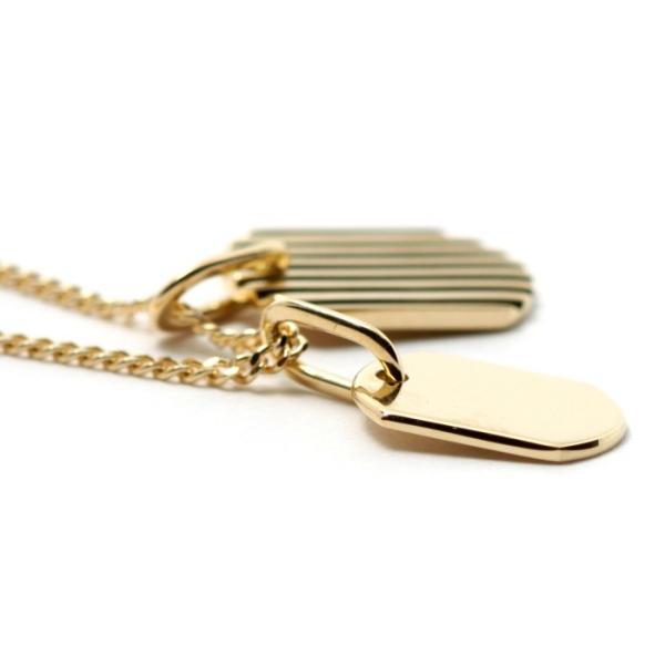 刻印無料 シンパシーオブソウル ネックレス SYMPATHY OF SOUL クリスマス Model Small Dog Tag Necklace K18YG スモール ドックタグ K18イエローゴールド|charger|03