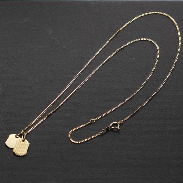 刻印無料 シンパシーオブソウル ネックレス SYMPATHY OF SOUL クリスマス Model Small Dog Tag Necklace K18YG スモール ドックタグ K18イエローゴールド|charger|09