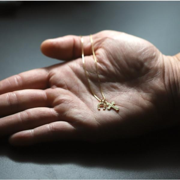 シンパシーオブソウル 2019年クリスマス限定 ネックレス SYMPATHY OF SOUL 1940's Sixpence Cross Necklace w/GOOD LUCK Horsesho グッドラックホースシュー|charger|02