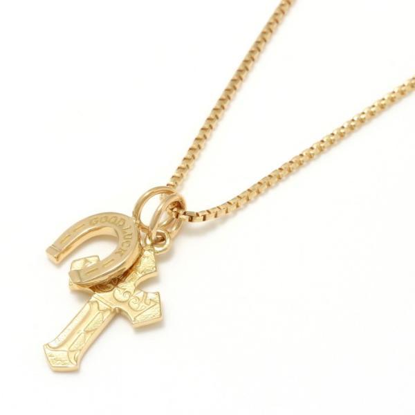 シンパシーオブソウル 2019年クリスマス限定 ネックレス SYMPATHY OF SOUL 1940's Sixpence Cross Necklace w/GOOD LUCK Horsesho グッドラックホースシュー|charger|03