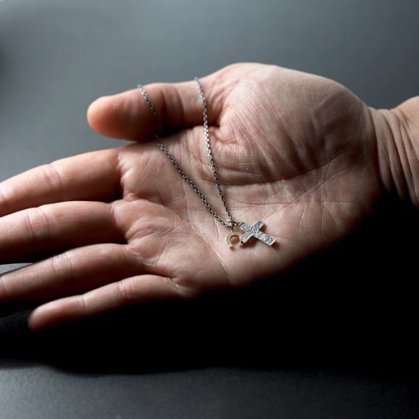 シンパシーオブソウル 2019年クリスマス限定 ネックレス SYMPATHY OF SOUL 1960's Sixpence Large Cross Necklace Horseshoe クロス ホースシュー SV K10YG|charger|02