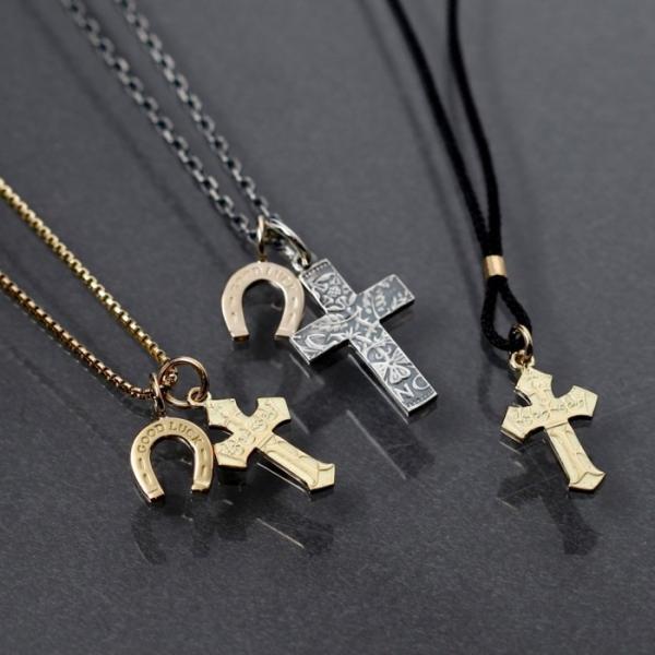 シンパシーオブソウル 2019年クリスマス限定 ネックレス SYMPATHY OF SOUL 1960's Sixpence Large Cross Necklace Horseshoe クロス ホースシュー SV K10YG|charger|14
