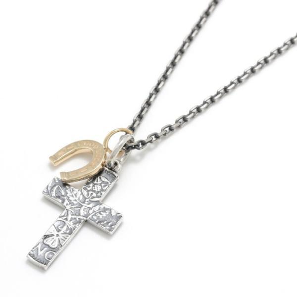 シンパシーオブソウル 2019年クリスマス限定 ネックレス SYMPATHY OF SOUL 1960's Sixpence Large Cross Necklace Horseshoe クロス ホースシュー SV K10YG|charger|03
