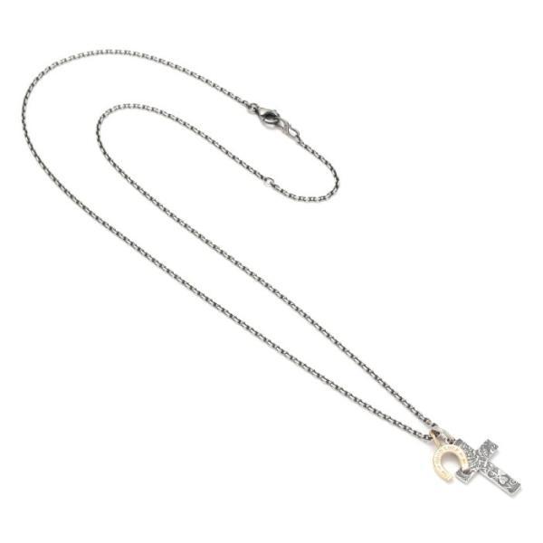 シンパシーオブソウル 2019年クリスマス限定 ネックレス SYMPATHY OF SOUL 1960's Sixpence Large Cross Necklace Horseshoe クロス ホースシュー SV K10YG|charger|04