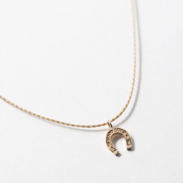 シンパシーオブソウル ネックレス SYMPATHY OF SOUL One Mile Jewelry Cord Necklace GOOD LUCK Horseshoe K10YG ワンマイルジュエリー ホースシュー ゴールド|charger|04