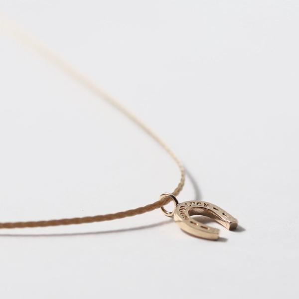 シンパシーオブソウル ネックレス SYMPATHY OF SOUL One Mile Jewelry Cord Necklace GOOD LUCK Horseshoe K10YG ワンマイルジュエリー ホースシュー ゴールド|charger|05