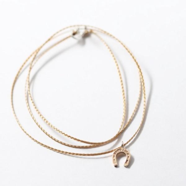 シンパシーオブソウル ネックレス SYMPATHY OF SOUL One Mile Jewelry Cord Necklace GOOD LUCK Horseshoe K10YG ワンマイルジュエリー ホースシュー ゴールド|charger|07
