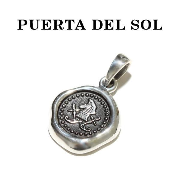 PUERTA DEL SOL プエルタデルソル Sealing Stamp Pendant シーリング スタンプ ペンダント SILVER シルバー|charger