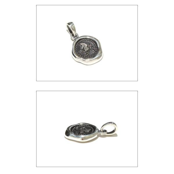 PUERTA DEL SOL プエルタデルソル Sealing Stamp Pendant シーリング スタンプ ペンダント SILVER シルバー|charger|02