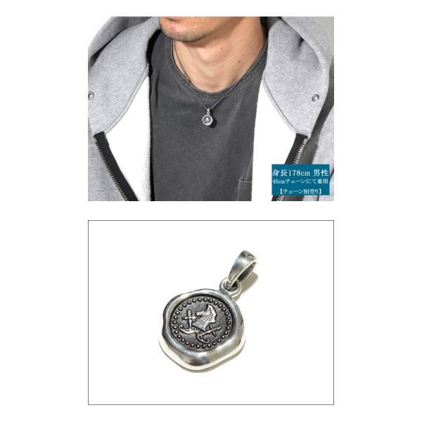 PUERTA DEL SOL プエルタデルソル Sealing Stamp Pendant シーリング スタンプ ペンダント SILVER シルバー|charger|04