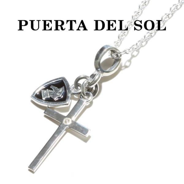 PUERTA DEL SOL プエルタデルソル Cross×Knight Necklace クロス ナイト ネックレス SILVER EPOXY DIAMONDO シルバー エポキシ ダイヤモンド|charger