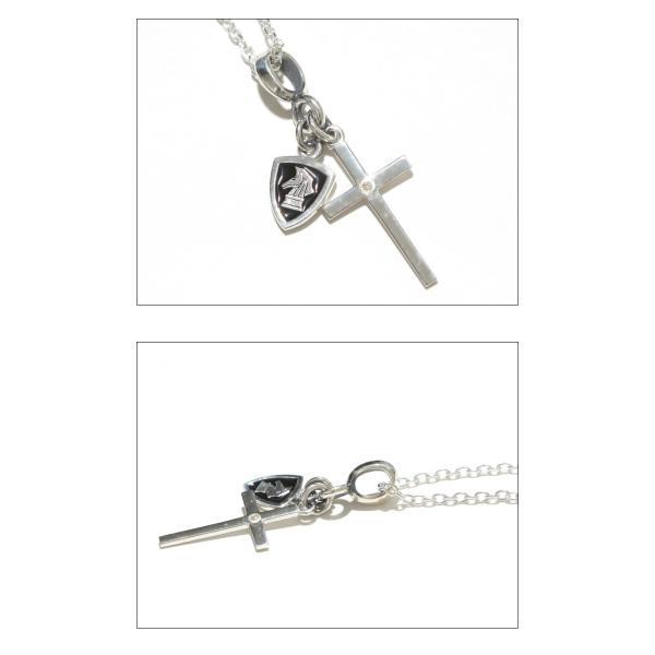 PUERTA DEL SOL プエルタデルソル Cross×Knight Necklace クロス ナイト ネックレス SILVER EPOXY DIAMONDO シルバー エポキシ ダイヤモンド|charger|02