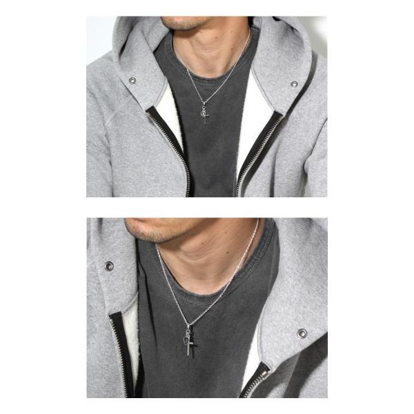 PUERTA DEL SOL プエルタデルソル Cross×Knight Necklace クロス ナイト ネックレス SILVER EPOXY DIAMONDO シルバー エポキシ ダイヤモンド|charger|05