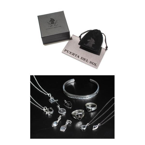 PUERTA DEL SOL プエルタデルソル Cross×Knight Necklace クロス ナイト ネックレス SILVER EPOXY DIAMONDO シルバー エポキシ ダイヤモンド|charger|06