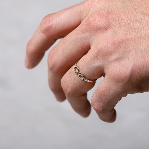 シンパシーオブソウル 指輪 SYMPATHY OF SOUL Infinity Band Ring Silver×K18 Yellow Gold インフィニティ バンド リング シルバー×K18 イエローゴールド|charger|02