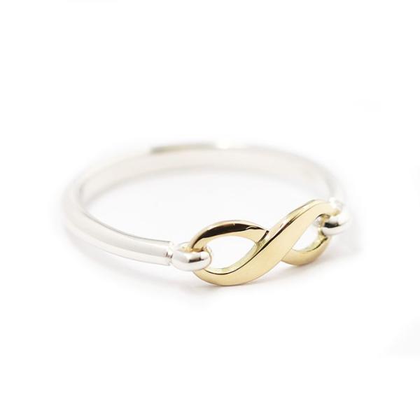 シンパシーオブソウル 指輪 SYMPATHY OF SOUL Infinity Band Ring Silver×K18 Yellow Gold インフィニティ バンド リング シルバー×K18 イエローゴールド|charger|04