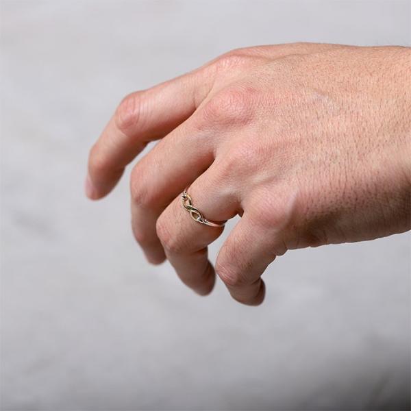 シンパシーオブソウル 指輪 SYMPATHY OF SOUL Infinity Band Ring Silver×K18 Yellow Gold インフィニティ バンド リング シルバー×K18 イエローゴールド|charger|07