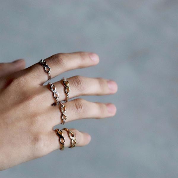 シンパシーオブソウル 指輪 SYMPATHY OF SOUL Infinity Band Ring Silver×K18 Yellow Gold インフィニティ バンド リング シルバー×K18 イエローゴールド|charger|10