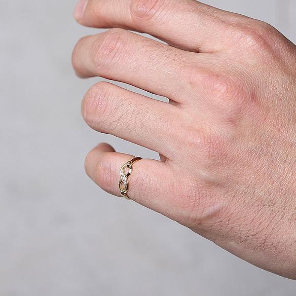 シンパシーオブソウル 指輪 SYMPATHY OF SOUL Infinity Band Ring K18 Yellow Gold w/Diamond インフィニティ バンド リング K18 YG w/ダイヤモンド charger 02